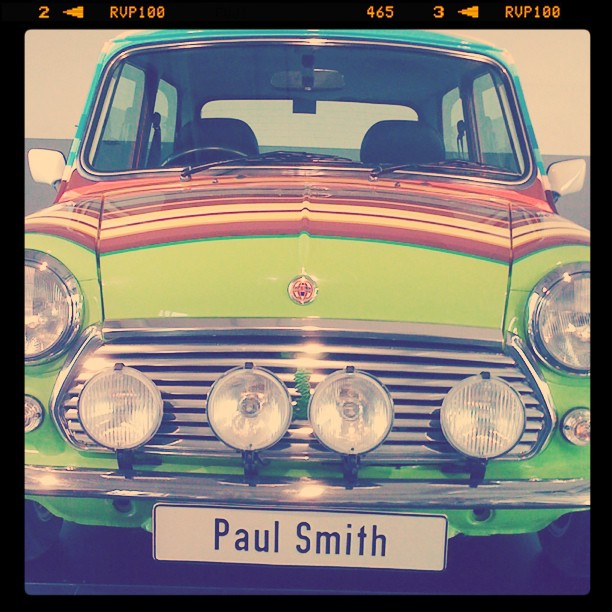 La voiture Mini Paul Smith