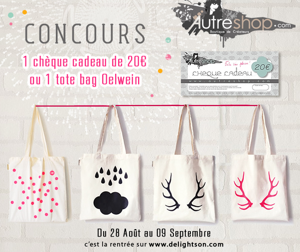 Concours tote bag autreshop oelwein
