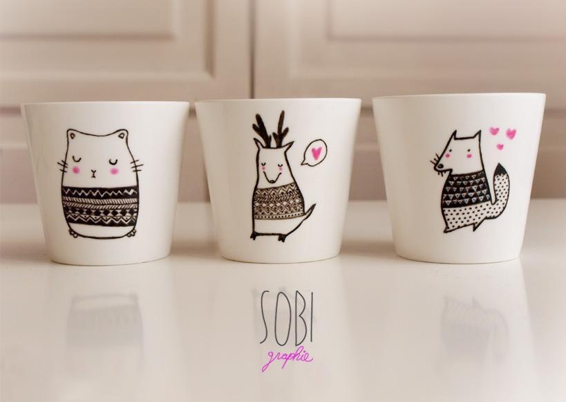 Illustration de tasses