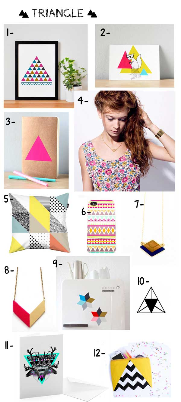 mode et déco triangles