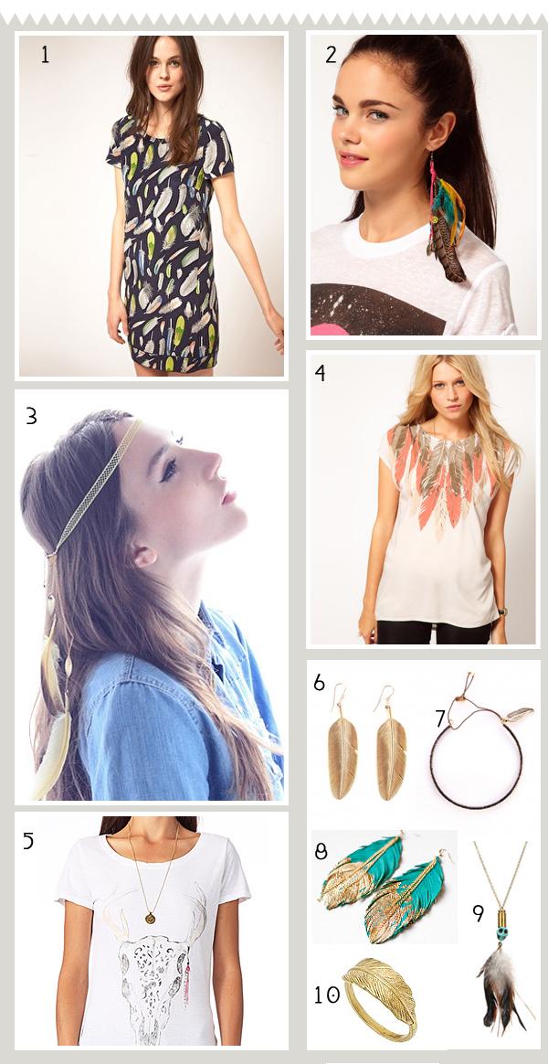 accessoires de mode en plumes
