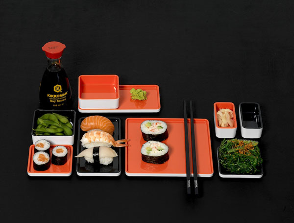 pantone set noir sushi