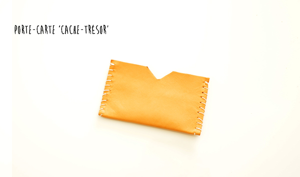 créer un porte cartes en cuir