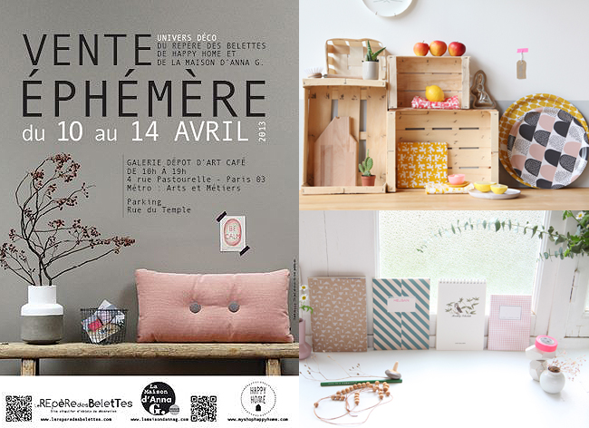 vente ephemere deco paris