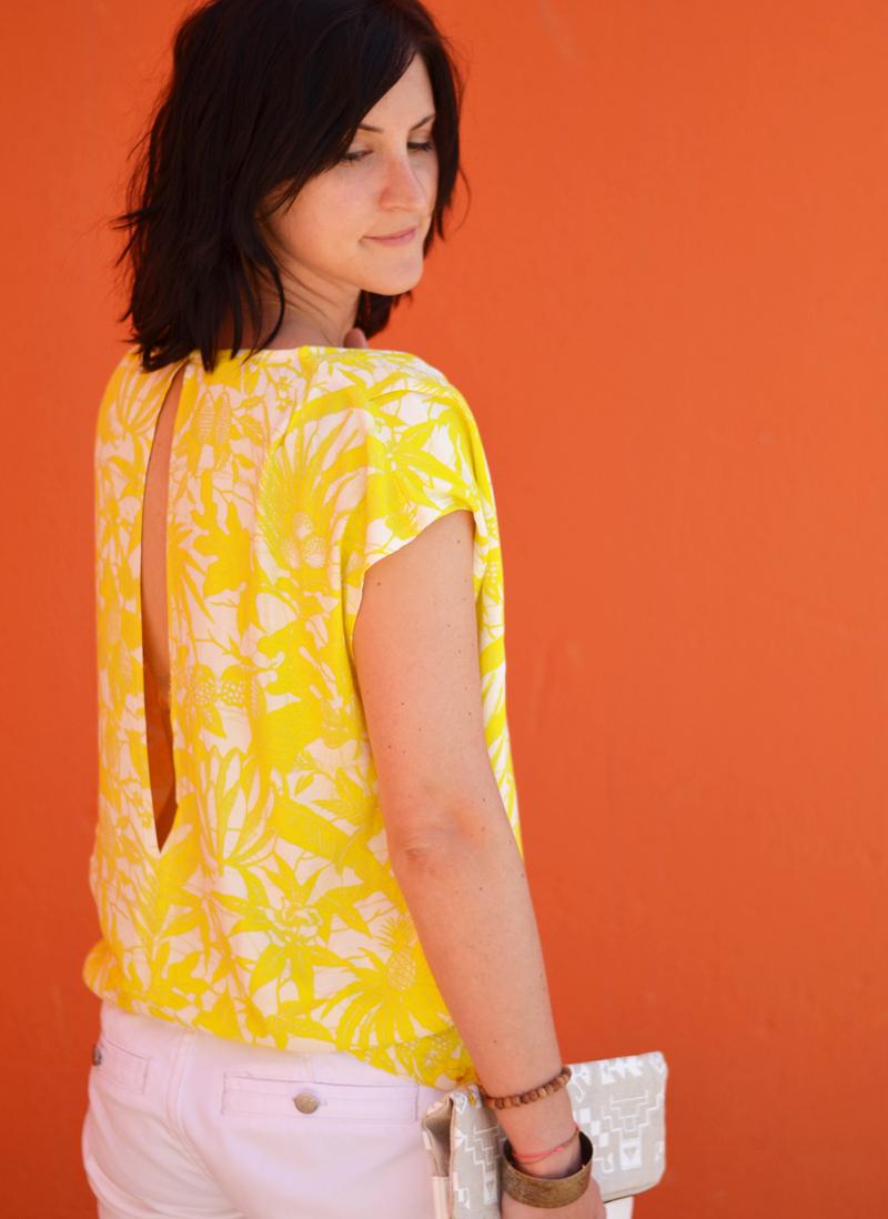 tee-shirt jaune american vintage