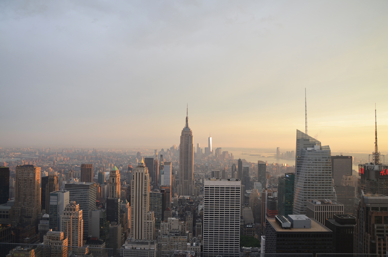 La vue depuis Top of the Rock