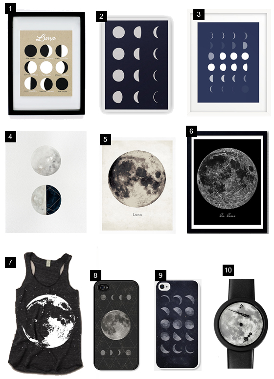 affiches lune