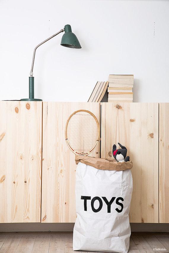 sac papier jouets
