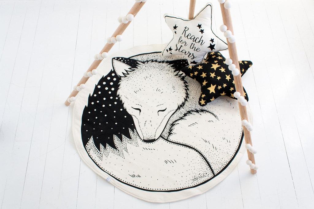 tapis renard enfants