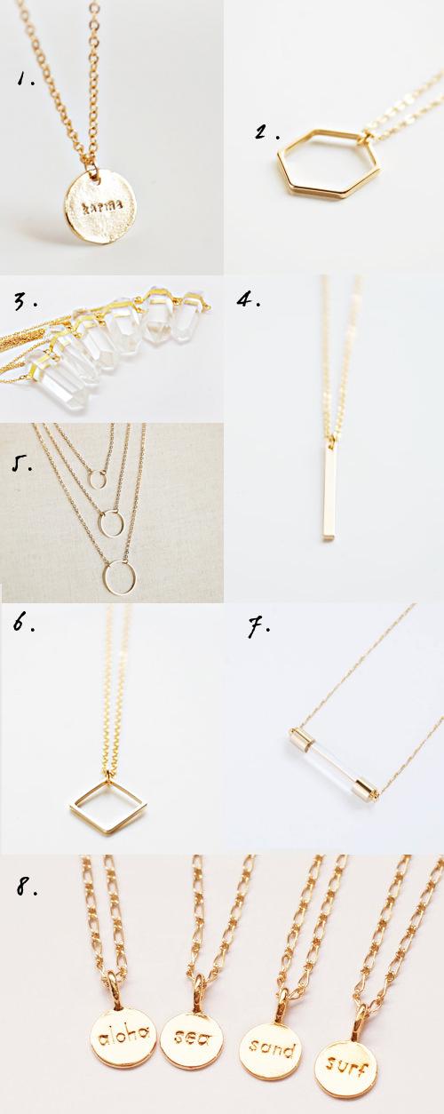 bijoux colliers minimalistes